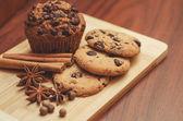 Chocolate baking — Stock Photo