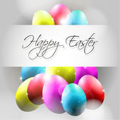 Happy Vector Background with Flying Colorful Eggs — ストックベクタ