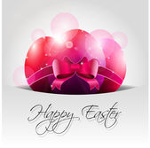 Vector Happy Easter Background with Pink Eggs in Pocket — Stock Vector