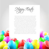 Happy Easter Vector Letter with Colorful Eggs — Stock Vector