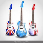 Set of Vector Guitars — Stock Vector