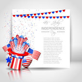 Independence Day Background with Paper - Vector — Stock Vector