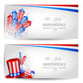 Set of Independence Day Cards - Vector — Stock Vector