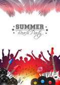 Summer Music Background with Instruments - Vector — Wektor stockowy