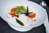 Thai Chicken Soup in Coconut Milk — Stock Photo
