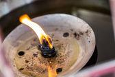 Lamp light oil — Stock Photo