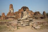 Statue of Buddha at Wat Mahatat, Ayutthaya, Thailand (temple) — Stock Photo