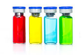 Colourful of Medical ampoules — Stockfoto