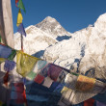 Everest and Nuptse from Kala Patthar — Stock Photo