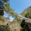 Bridge over Dudh Koshi — Stock Photo