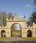 Central entrances to Redbourne Hall Estate. — Stock Photo