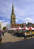 Newark on Trent Market, Nottinghamshire, UK. — Stock Photo