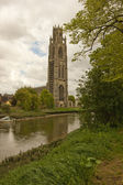 The imposing tower, known as the Boston stump. — Stock Photo