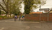 Cyclists take part in a speed trials event in Lincolnshire. — Stock Photo