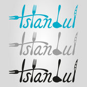 Istanbul food logo — Stockvektor