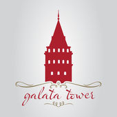 Torre di galata di istanbul — Vettoriale Stock