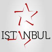 Istanbul star logo — Stock Vector
