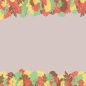 葉の罫線 — ストックベクタ