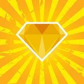 Diamond, vector illustration — Vettoriale Stock