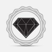 Diamond, silhouette — Stok Vektör