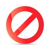 No allowed sign, vector illustration — Stock Vector