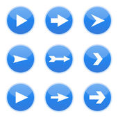 Setas azuis, ilustração vetorial — Vetor de Stock