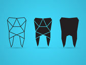 Geometric tooth — Vector de stock