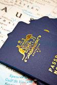 Australian Passports — Stock Photo
