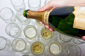 Champagne Pour — Stock Photo