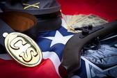 элементы конфедерации гражданской войны — Стоковое фото