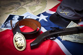 Civil War Items Confederate — Foto de Stock