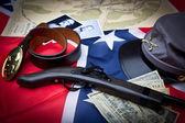 Civil War Items Confederate — Zdjęcie stockowe