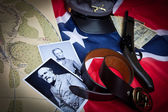 Civil War Items Confederate — ストック写真