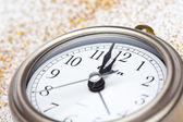 Clock Striking Twelve — Stock Photo