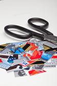 Credit Card Pieces — Stok fotoğraf