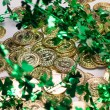 Gold Coins & Shamrocks — Stock Photo #46629633