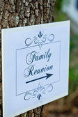 Familt reunion işareti — Stok fotoğraf