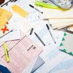 Messy Desk — Stock Photo #46662273