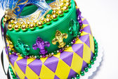Mardi Gras Cake — Stock Photo