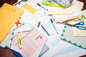 Messy Desk — Stock Photo