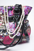 Handbag and Pearls — Stock fotografie