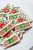 Gingerbread House Cookies — Stock Photo