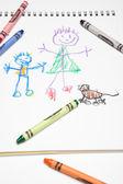 Kids Stick Figure — Foto de Stock