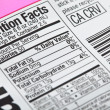 Nutrition Label — Stock Photo #48154393