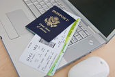 Passports and Boarding Pass — Stock Photo