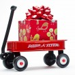 Red Wagon with Presents — Stock Photo #48497211