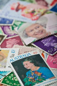 Queen Elizabeth II Stamps — Stock Photo