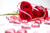 Roses and Candy — Stockfoto