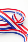 Red White and Blue Ribbon — Stock Photo