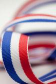 красный белый и синий ленты — Стоковое фото